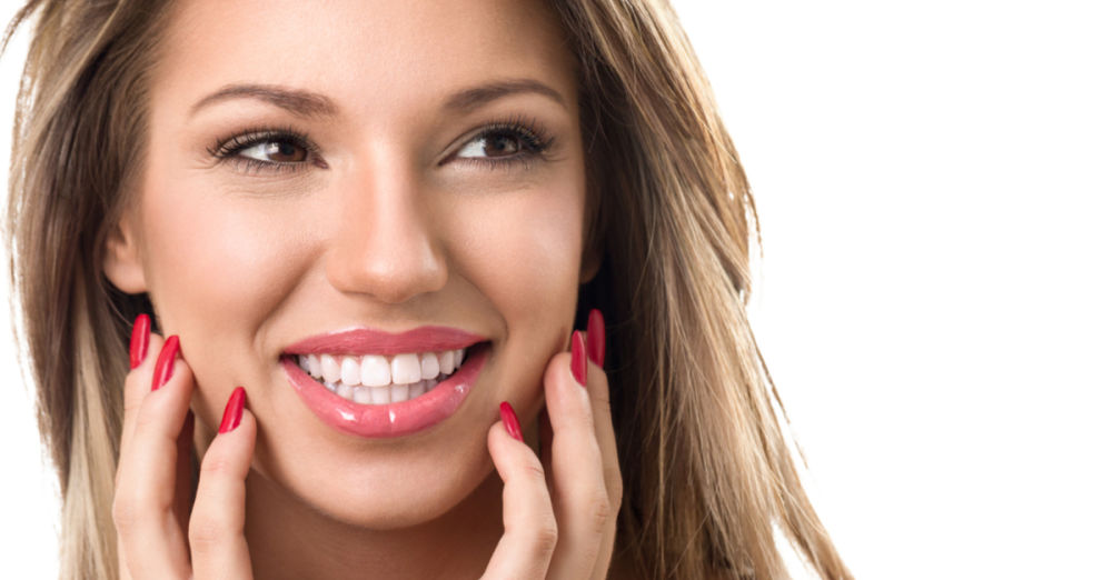 smiling woman teeth whitening harrisonburg va